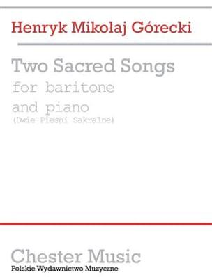 Sacred Songs 2 - Gorecki - Partition - Mélodies - laflutedepan.com