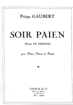 Philippe Gaubert - Pagan Evening - Sheet Music - di-arezzo.co.uk