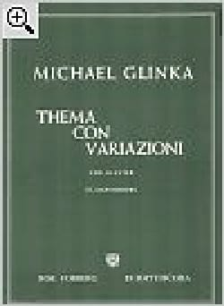 Thema con variazioni - Mikhail Glinka - Partition - laflutedepan.com