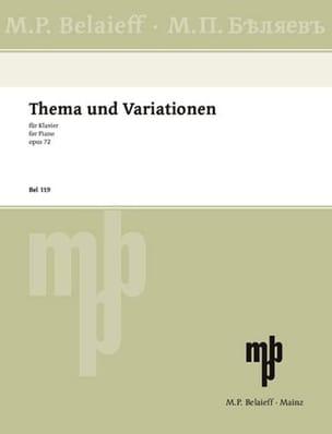 Thème et Variations Op. 72 GLAZOUNOV Partition Piano - laflutedepan