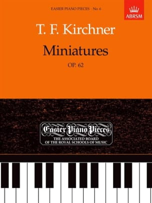 Miniatures Opus 62 Theodor Kirchner Partition Piano - laflutedepan