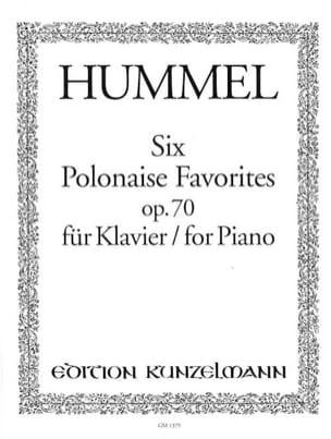 6 Polonaises Favorites Op. 70 HUMMEL Partition Piano - laflutedepan