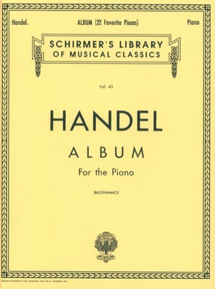 Album For The Piano HAENDEL Partition Piano - laflutedepan