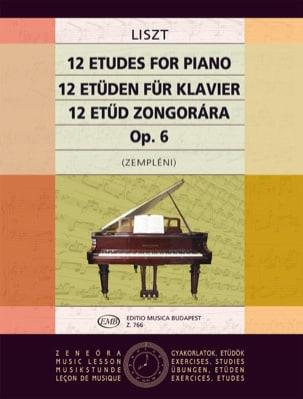 Franz Liszt - 12 Etudes Opus 1 - Partition - di-arezzo.fr