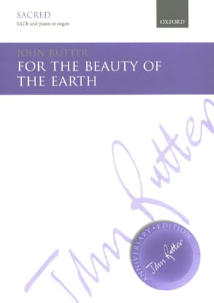 John Rutter - For The Beauty Of The Earth - Partition - di-arezzo.co.uk
