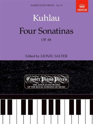 Friedrich Kuhlau - 4 Sonatinas Op. 88 - Partition - di-arezzo.co.uk