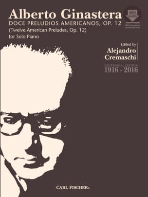 Alberto Ginastera - 12 American Preludes op. 12 Complet - Partition - di-arezzo.fr