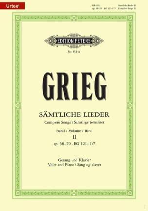 Sämtliche Lieder Volume 2 GRIEG Partition Mélodies - laflutedepan