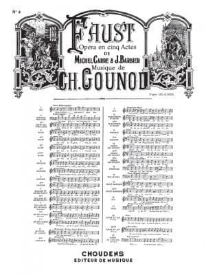 Adieu mon Bon Frère. Faust - GOUNOD - Partition - laflutedepan.com