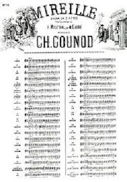 Charles Gounod - Time flies away. Mireille. mezzo - Sheet Music - di-arezzo.com