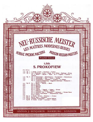Sergei Prokofiev - Gavotte Op. 12-2 - Partition - di-arezzo.fr