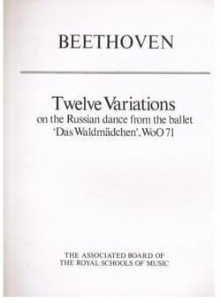 Beethoven - 12 Variations Woo 71 - Partition - di-arezzo.fr
