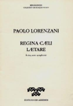 Paolo Lorenzani - Regina Caeli Laetare - Partition - di-arezzo.fr