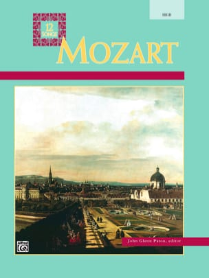 MOZART - 12 Songs for high voice - Sheet Music - di-arezzo.co.uk