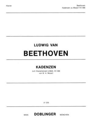 MOZART - Cadences Du Concerto n° 20 K 466 - Partition - di-arezzo.fr