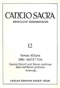 Tomas Milans - 3 Motets - Partition - di-arezzo.fr