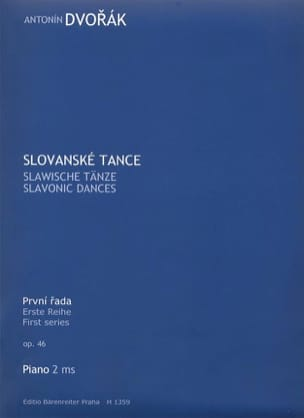 Danses Slaves Opus 46 - DVORAK - Partition - Piano - laflutedepan.com