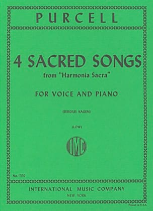 4 Sacred Songs. Voix Grave - Henry Purcell - laflutedepan.com