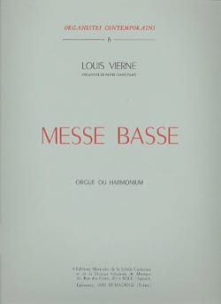 Louis Vierne - Messe Basse Opus 30 - Partition - di-arezzo.fr