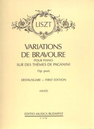 Franz Liszt - Variations de Bravoure. - Partition - di-arezzo.fr