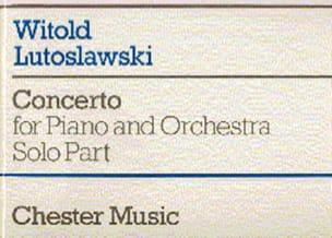 Witold Lutoslawski - Concerto Pour Piano - Partition - di-arezzo.fr