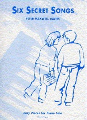 6 Secret Songs - Davies Maxwell - Partition - Piano - laflutedepan.com