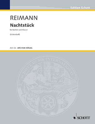 Aribert Reimann - Nachstück - Partition - di-arezzo.fr