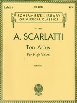 Alessandro Scarlatti - 10 Arias. Voix Haute - Partition - di-arezzo.fr
