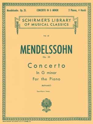 Félix MENDELSSOHN - Concerto pour piano n° 1 Opus 25 en sol mineur - Partition - di-arezzo.fr