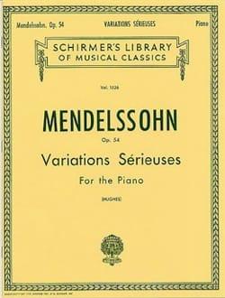 Variations Sérieuses Opus 54. - MENDELSSOHN - laflutedepan.com