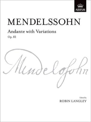 MENDELSSOHN - Andante With Variations Op. 82 - Sheet Music - di-arezzo.com