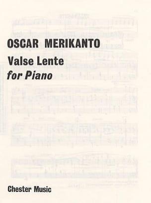 Valse Lente - Oskar Merikanto - Partition - Piano - laflutedepan.com