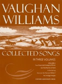 Williams Ralph Vaughan - Collected Songs Volume 2 - Partition - di-arezzo.fr