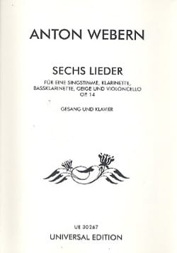 Anton Webern - 6 Lieder Op. 14 - Partition - di-arezzo.fr