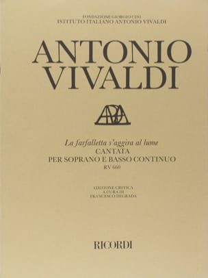 VIVALDI - The Farfalletta Regardgira Al Lume RV 660. - Sheet Music - di-arezzo.co.uk