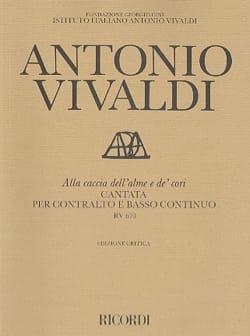 Antonio Vivaldi - Alla Caccia Dell'alme E De' Cori RV 670 - Partition - di-arezzo.fr
