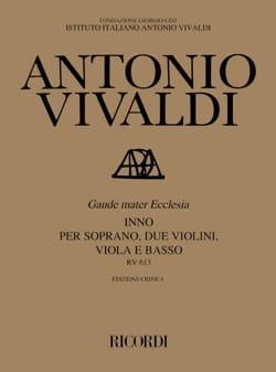 VIVALDI - Gaude Mater Ecclesia RV 613 - Sheet Music - di-arezzo.co.uk
