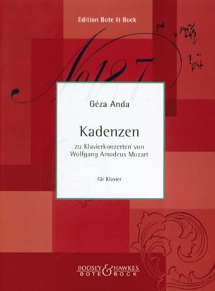 Géza Anda - Cadences Pour des Concertos de Mozart - Partition - di-arezzo.fr