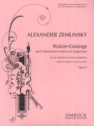 Alexander Zemlinsky - Walzer-Gesänge Opus 6 - Sheet Music - di-arezzo.com
