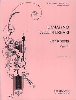 4 Rispetti Opus 12 Voix Haute Ermanno Wolf-Ferrari laflutedepan
