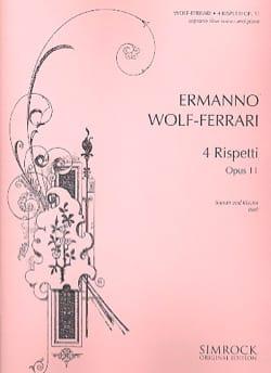 Ermanno Wolf-Ferrari - Rispetti Op. 11 (Voix Grave) - Partition - di-arezzo.fr
