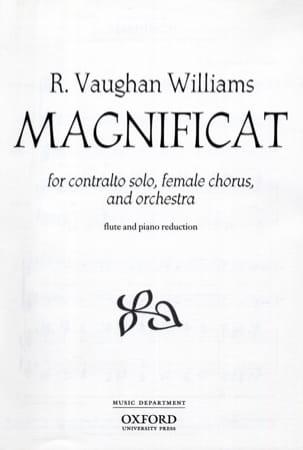 Williams Ralph Vaughan - Magnificat - Partition - di-arezzo.fr