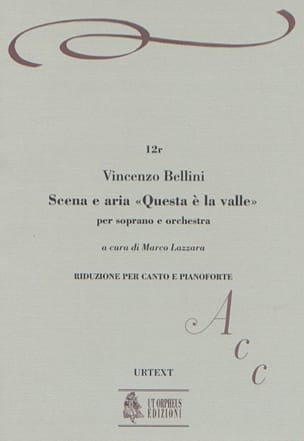 Vincenzo Bellini - Scena Aria Questa E la Valle - Sheet Music - di-arezzo.co.uk
