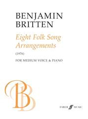 8 Folksongs Arrangements 1976 BRITTEN Partition laflutedepan