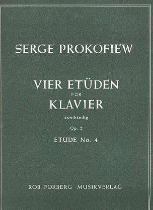 Sergei Prokofiev - Etude Op. 2-4 - Partition - di-arezzo.fr