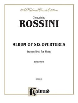 Album Of 6 Overtures ROSSINI Partition Piano - laflutedepan