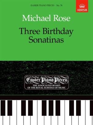 Rose - 3 Birthday Sonatinas - Sheet Music - di-arezzo.com