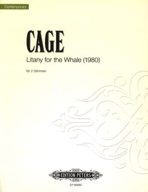 John Cage - Litany For The Whale pour 2 voix - Partition - di-arezzo.fr