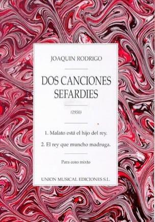 Joaquin Rodrigo - 2 Canciones Sefardies - Partition - di-arezzo.fr