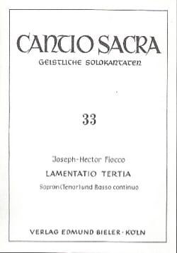Joseph-Hector Fiocco - Lamentatio Tertia - Partition - di-arezzo.fr